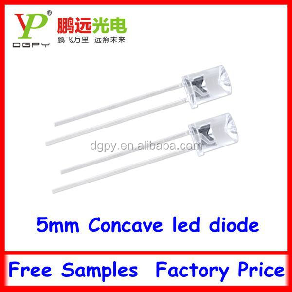 5mm round with flange type led flat top led diode