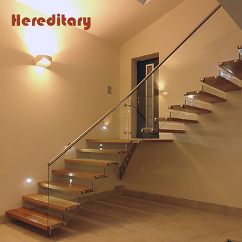 Indoors models floating stairs glass stair railing treads wood staircase kits