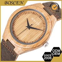 Custom Fit Cheapest Brand Movement Mens Watch Leather