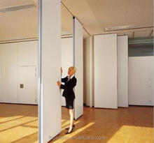 Hanging soundproof sliding room divider for hotel(Single roller or double rollers )