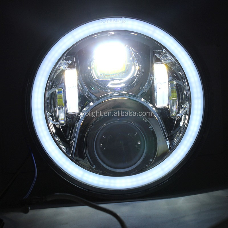 "Black 7"" 75w Round Headlight for Hon da Motorcycle CB400 CB500 CB1300 Hornet 250 600 900 VTEC VTR250"