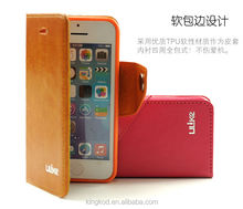 Guangdong top supplier leather flip mobie phone cover for iphone 5c