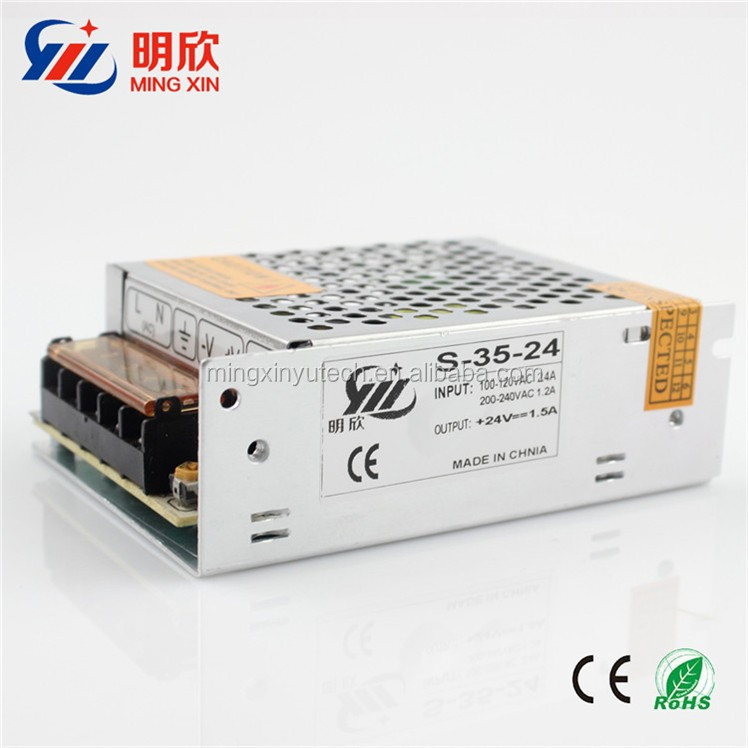 Factory price 220v ac to 24v dc 36w switching model power supply 24v 1.5a