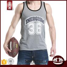Printing your logo custom men's gym singlet/stringer vest
