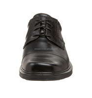 Black oxford pu leather shoes men