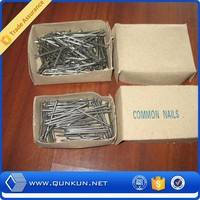 Alibaba Flat head low price polished steel common wire nail