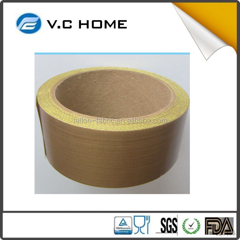 PTFE Glass Coated With Silicone Adhesive Teflon tape For Plastic Bag Heat Sealing Machine
