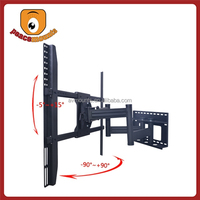 "Black metal Chinese supplier of led lcd telescoping tv wall mount for 50""-72"" displays up to 250 lbs with VESA 850x750 mm"