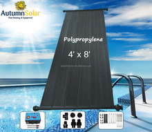 Solar pool water heating with high pressure solar water collector