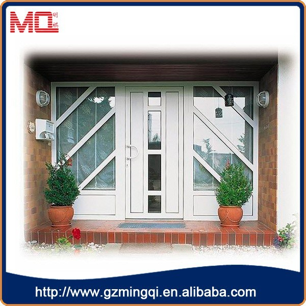 China Supplier high quality pvc double glass commercial outside door for buildings