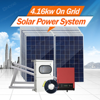 Easy installation solar power 4kw system with 25 years warranty for home