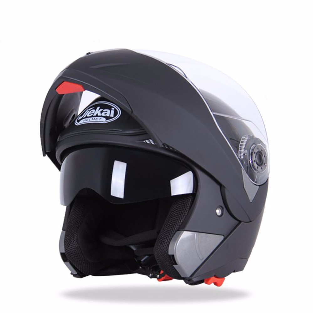 Universal Matt Black Full Face ABS PP Shell Motorcycle Helmet
