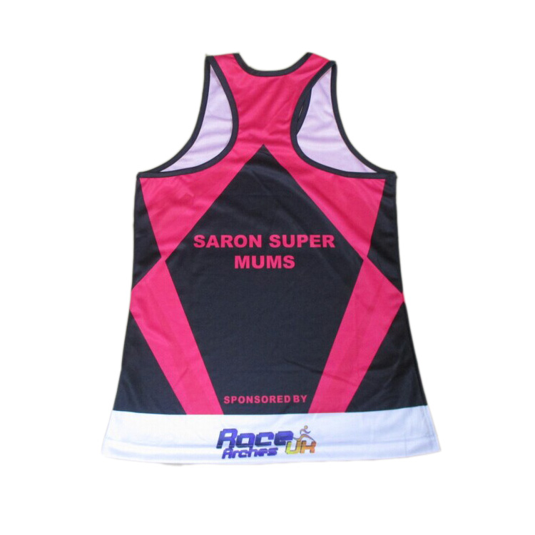 Kroad China wholesale marathon sublimated running singlet custom design for men