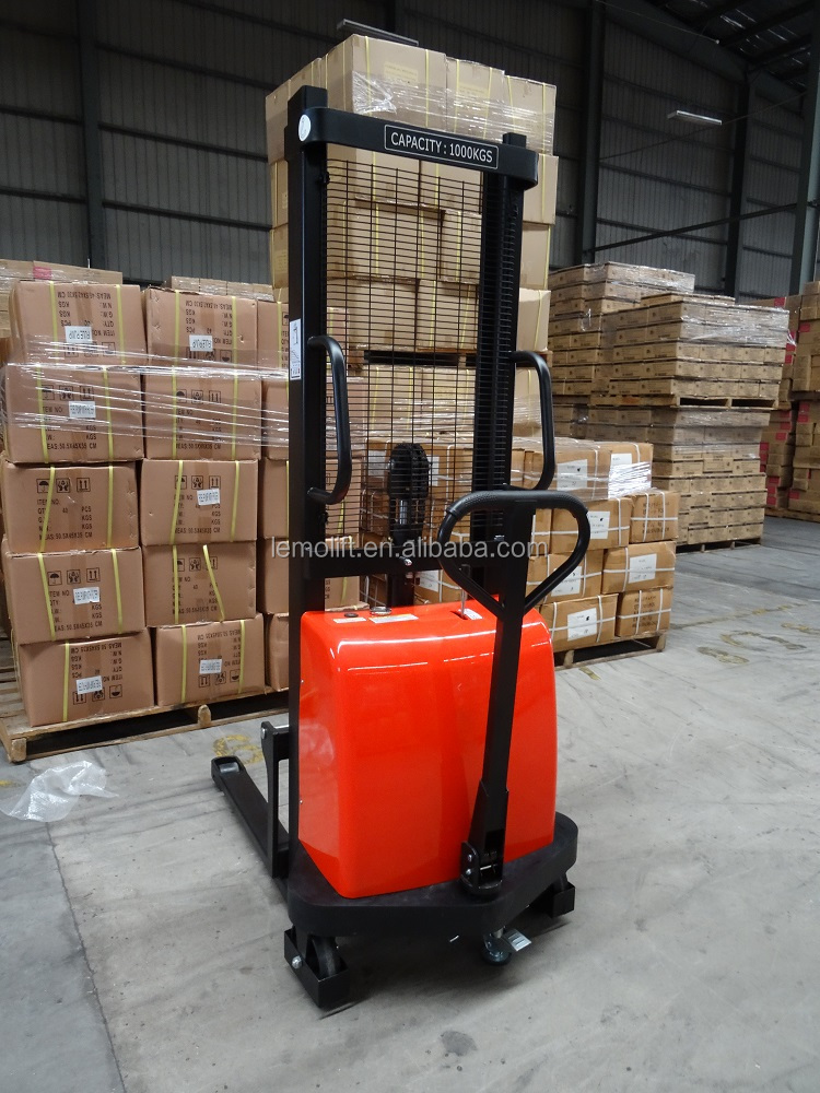 LEMO Manual Semi Electric Stacker Warehouse Forklift Truck