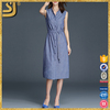Clothing manufacturer high quality summer stripe longline shirt dress, shirt dress long dresses evening, cheap long shirt dress