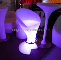 PE materia IP 68 Water proof LED Furniture bar stool led tv stand furniture