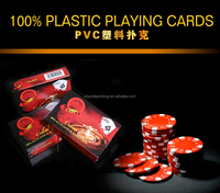 Casino 100% All Plastic Playing Cards , PVC Plastic Poker , Super waterproof Playing cards