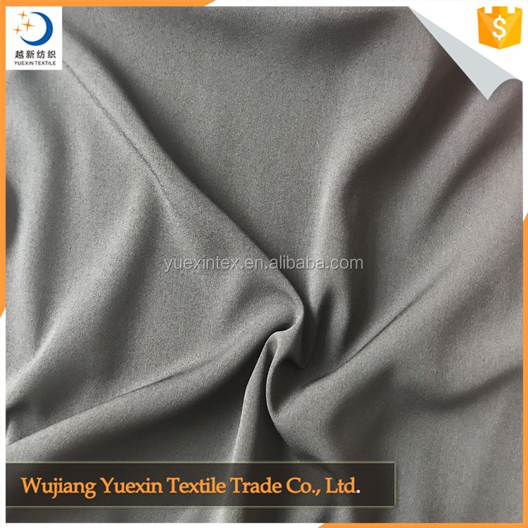 100 polyester elastic crepe de chine(CDC) fabric