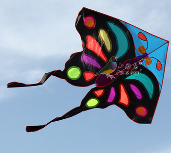 High quality wholesale OEM colorful Noctilucent butterfly kite with low price