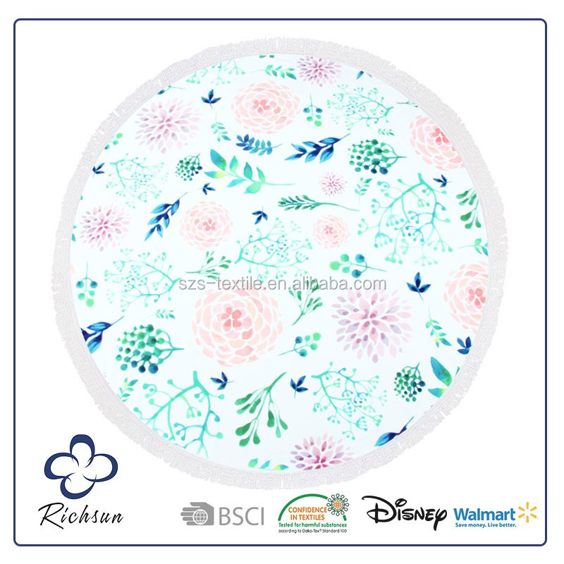 high quality standard textile round towels