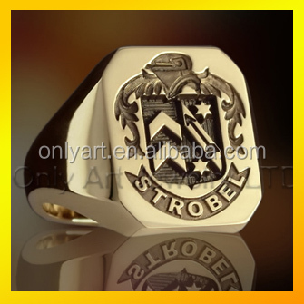 Top-quality gold plating jewelry custom welcom jewelry brass masonic signet rings