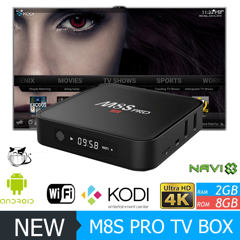 new design s905 smart tv box m8s pro android 3d full hd 1080p usb media player