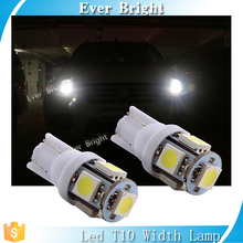 White auto led interior T10 bulb side indicator car light width lamp 12 v led light 192 168 T10 5050 5smd