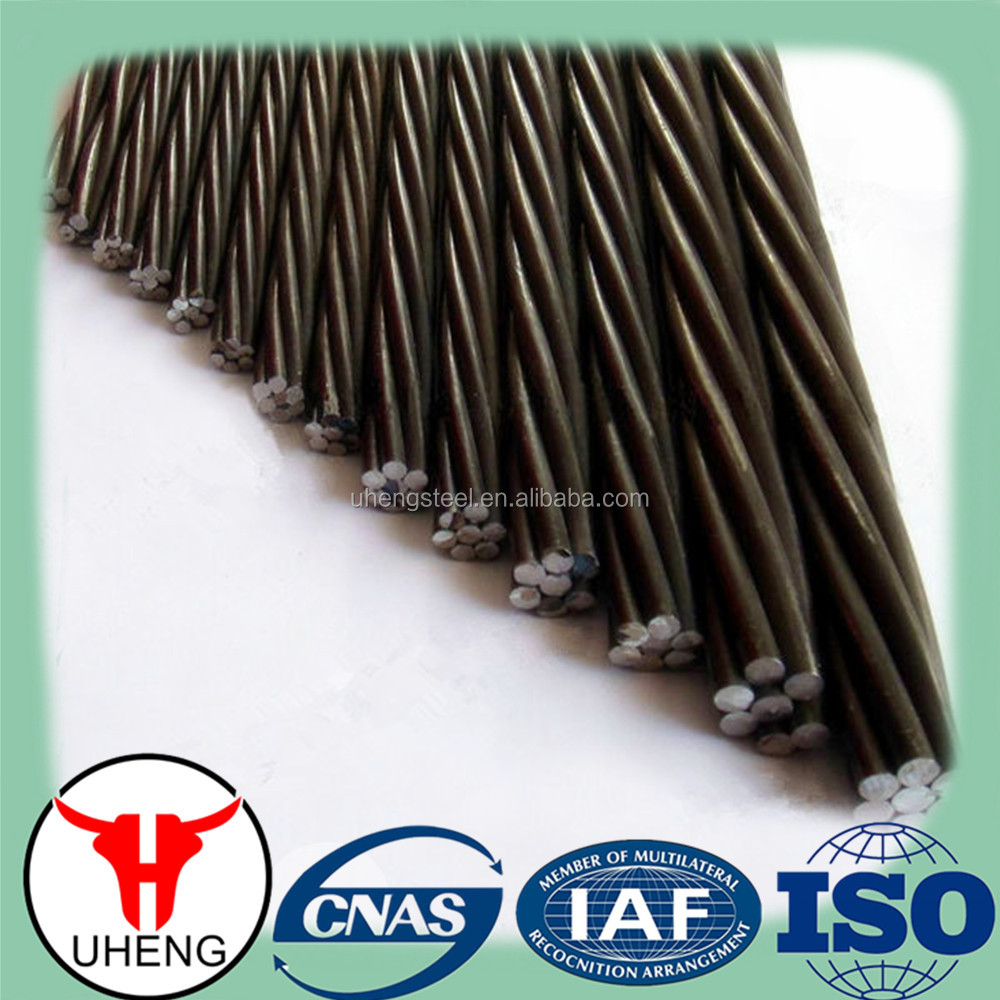 1x7/high tensile prestressed steel strand