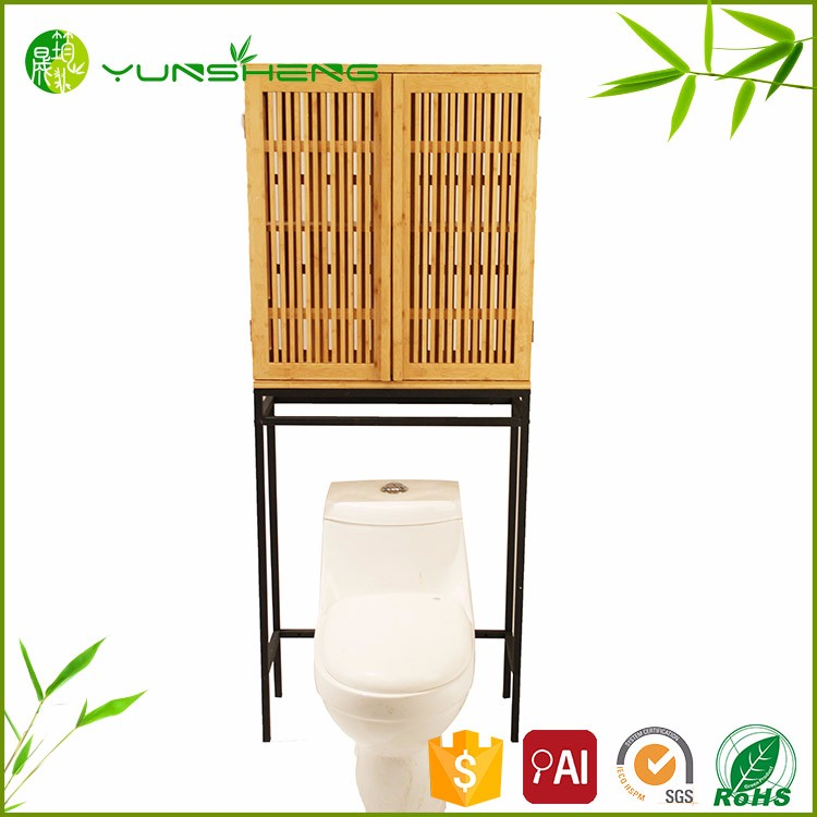 Portable Natural Bamboo Bathroom Cabinet