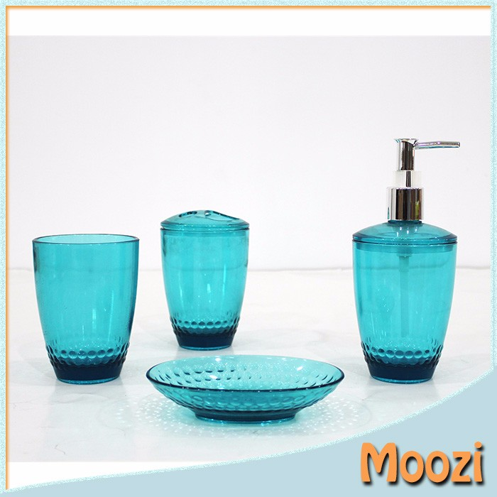 2016 Eco-Friendly Fashion design Plastic blue bathroom accessories