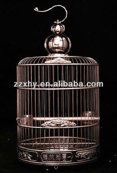 Top Super Antique Golden Round Bird Cage Luxury Outdoor Garden Bird Cage 2016