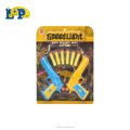 Shooting toy pistol with luminous colorful bullets 2 color mix