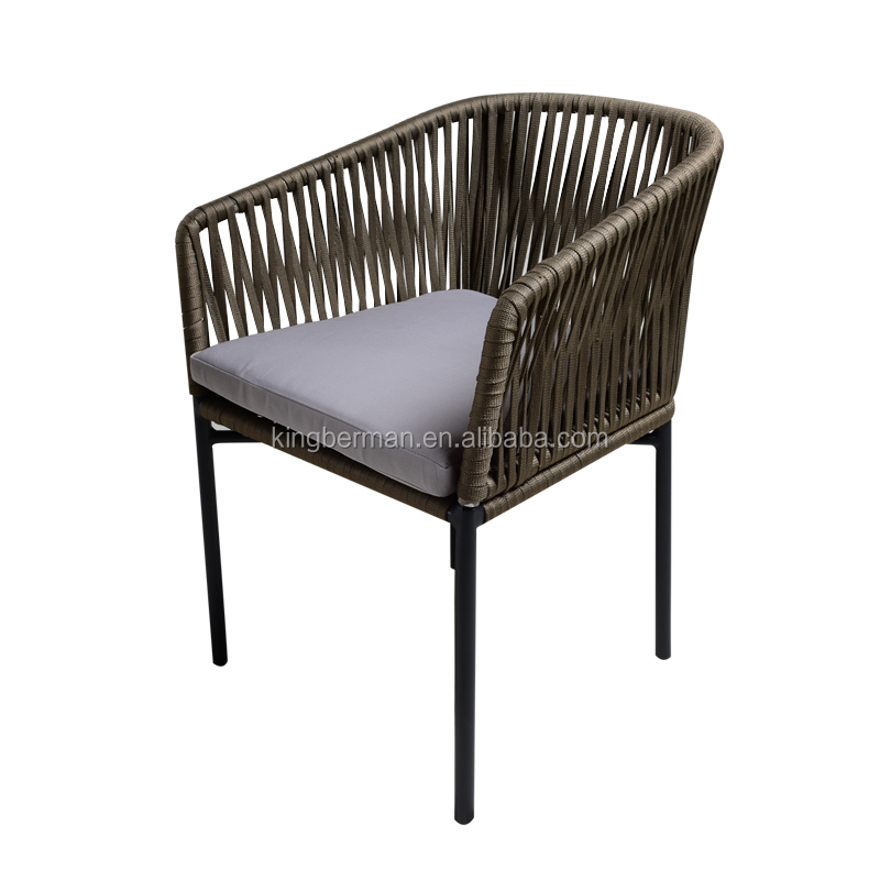 Hand Weaving Rope Patio Furniture Dining Room Chair Modern Armchairs for Sale