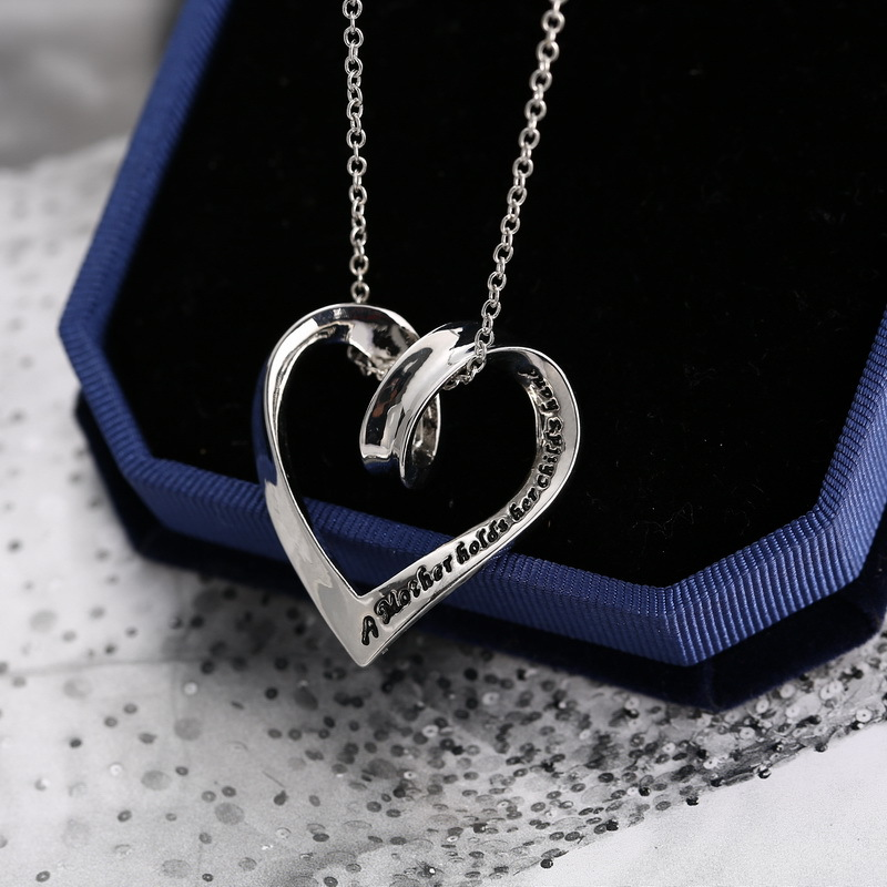 fashion heart pendent necklace for mother's day gift
