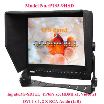 "Newest 13.3"" Full HD IPS Panel 1920x1080 3G HD SDI Monitor for Broadcasting Film Making with Wide Viewing Angle"