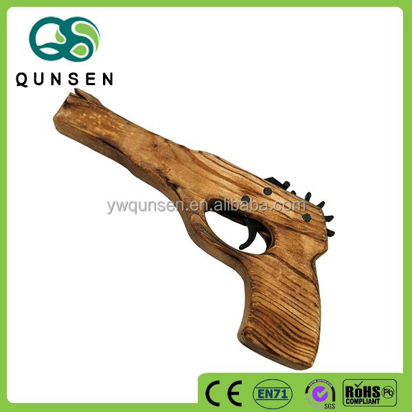 wholesale kids toy wooden rubber band gun