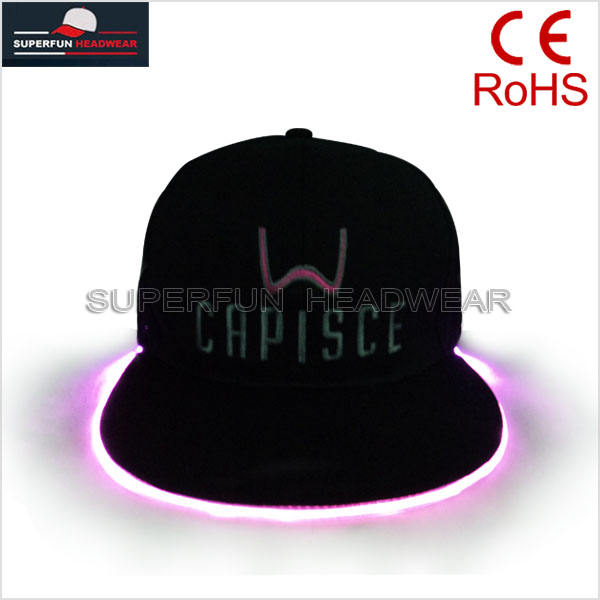 fashion snapback cap led flashing christmas hats