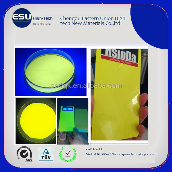 RAL 1026 one coat luminous yellow fluorescents powder coating