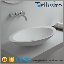 China glass solid surface bathroom countertop basin BS-8314
