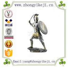 factory custom made resin warrior with sword shield figure statue