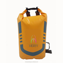 20L outdoor waterproof dry bag with two straps for hiking phones cameras & more