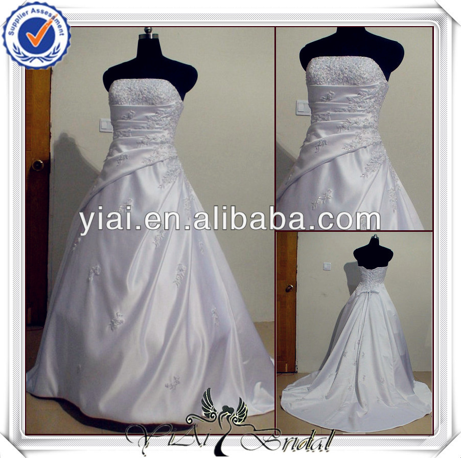 YHS0028 Newest Silk Satin Ball Gown Bridal Wedding Dress China