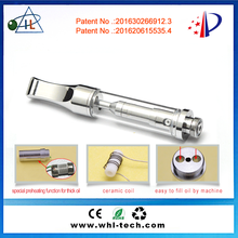 2016 USA hottest selling thick cbd oil 510 glass wickless ceramic wax concentrate vaporizer