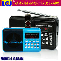 L-988AM Portable mini mp3 radio, mini am/fm radio mp3 player