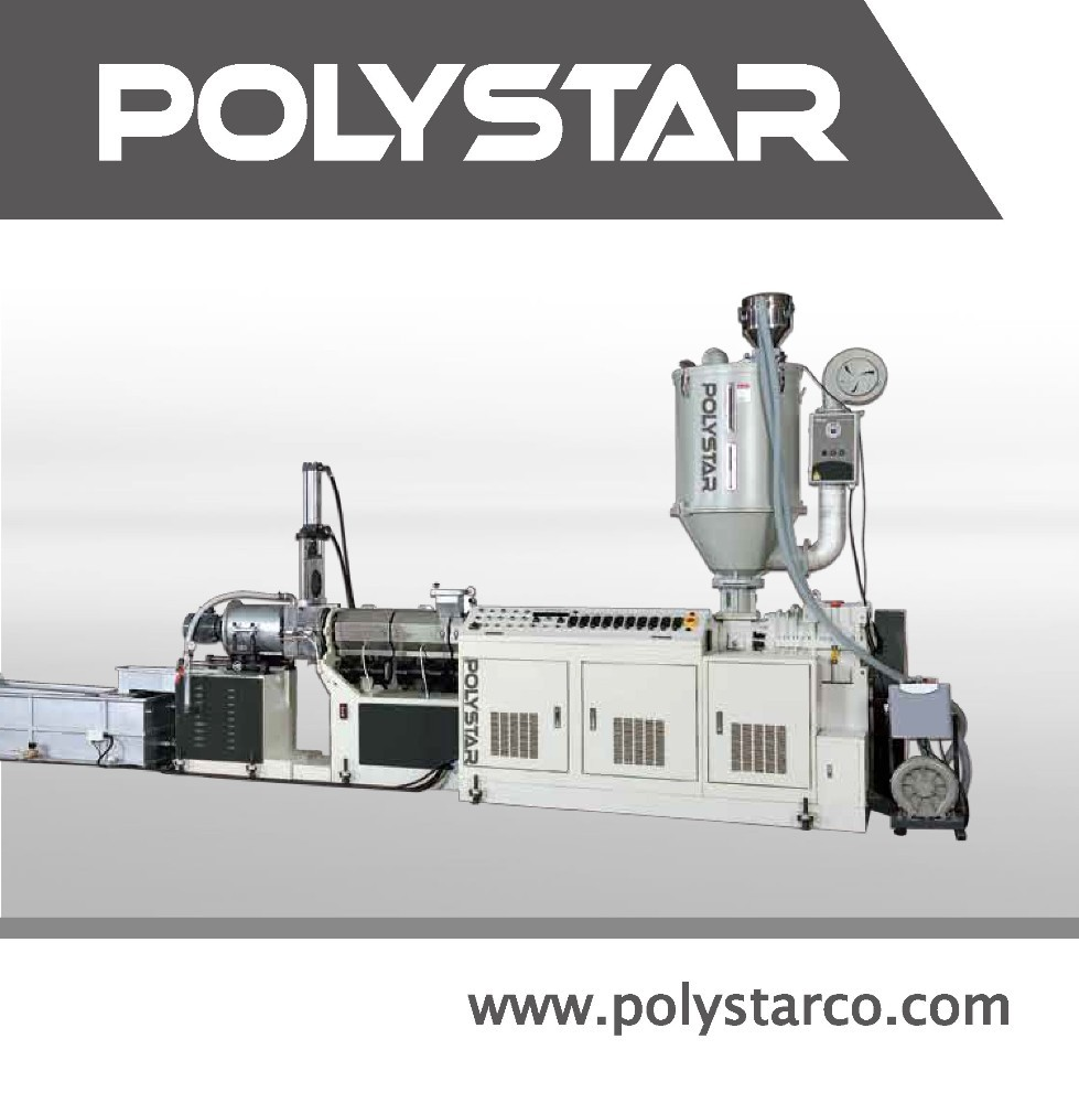 2 stage plastic granule raw material machine