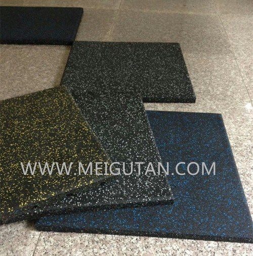 gym rubber tile for interlocking