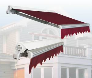 Motorized awnings, manual awnings, drop arm awnings