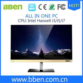 high configuration windows all in one pc LCD IPS screen 1920*1080 core i7
