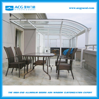 Double tempered glass sunroom/glass veranda/ winter garden