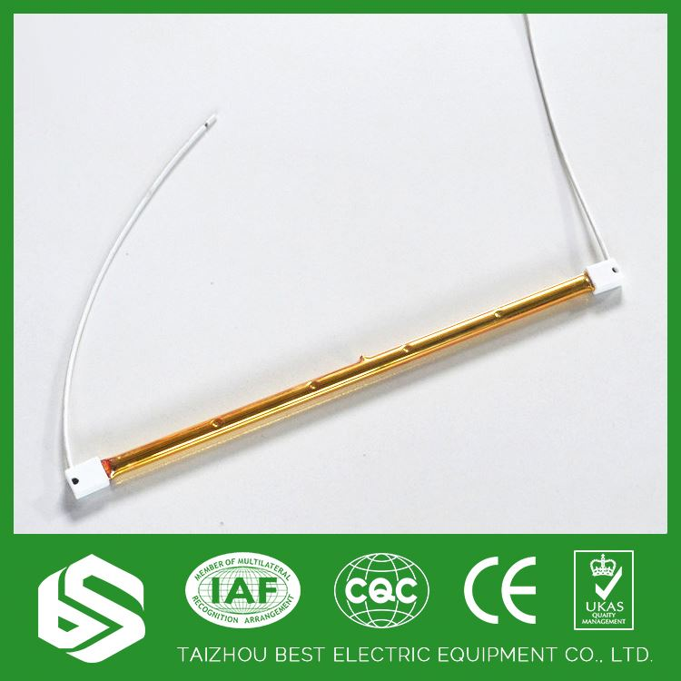 High quality 6mm,8mm,10mm gold plated tube heater